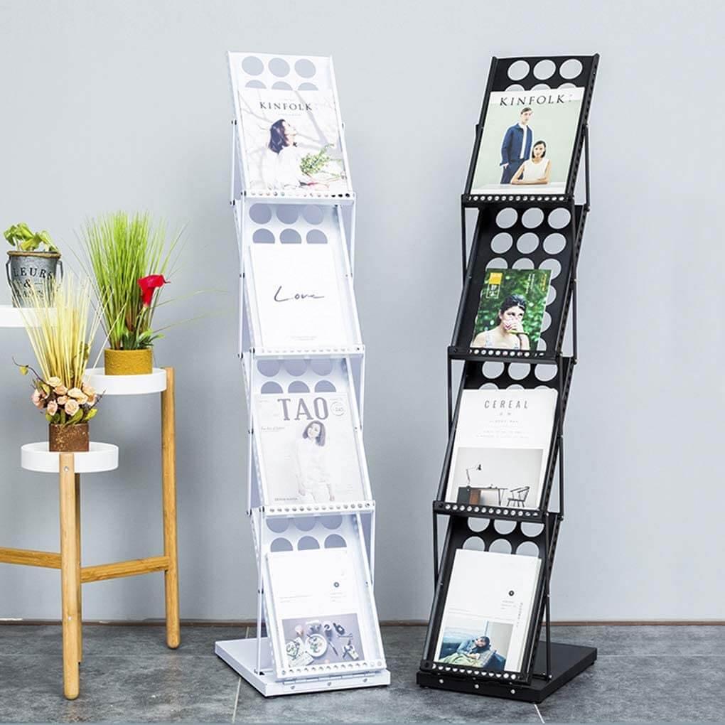 A4 Metal Floor Standing Catalouge Magazine Holder Rack Display Stand